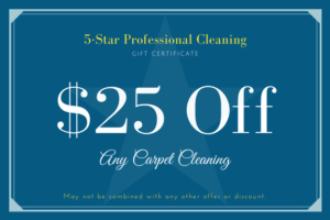 5-Star Pro Carpet Cleaning Coupon