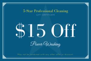 5-Star Pro Power Washing Coupon